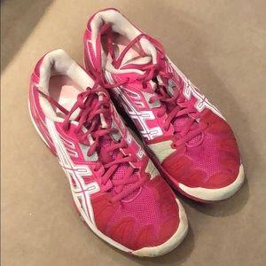 Asics Gel Resolution 5 tennis shoes pink sz 8